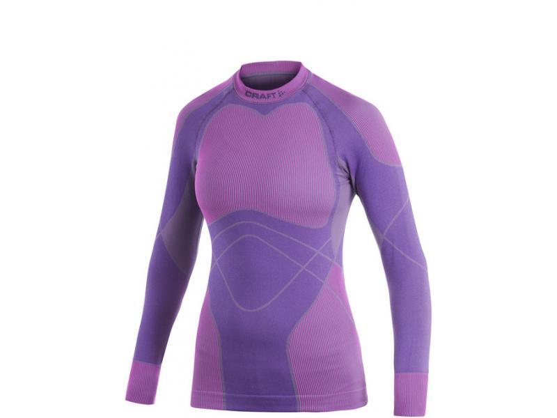 Dámské triko CRAFT KEEP WARM Crewneck 1901632-2462 fialová - velikost L