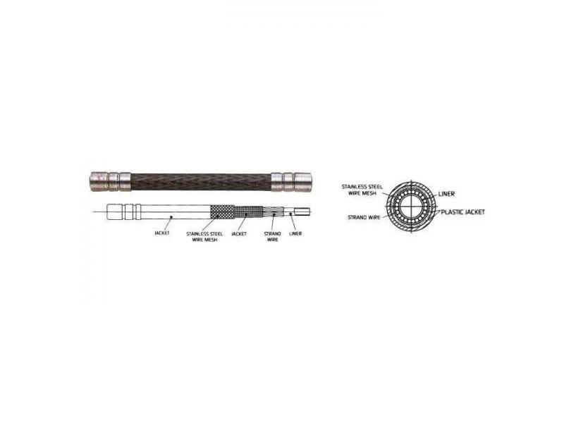 Bowden ALIGATOR LY-186 - červená 5mm (1m)