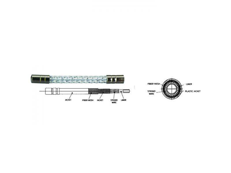 Bowden ALIGATOR LY-666 (LY-888) - stříbrná 5mm (1m)