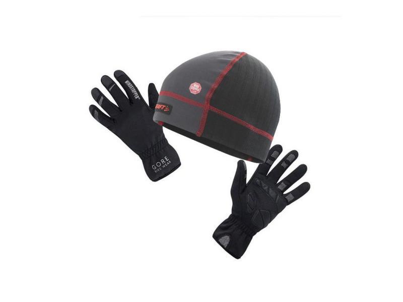 Balíček doplňků Craft Skall Hat a GORE Mistral glove
