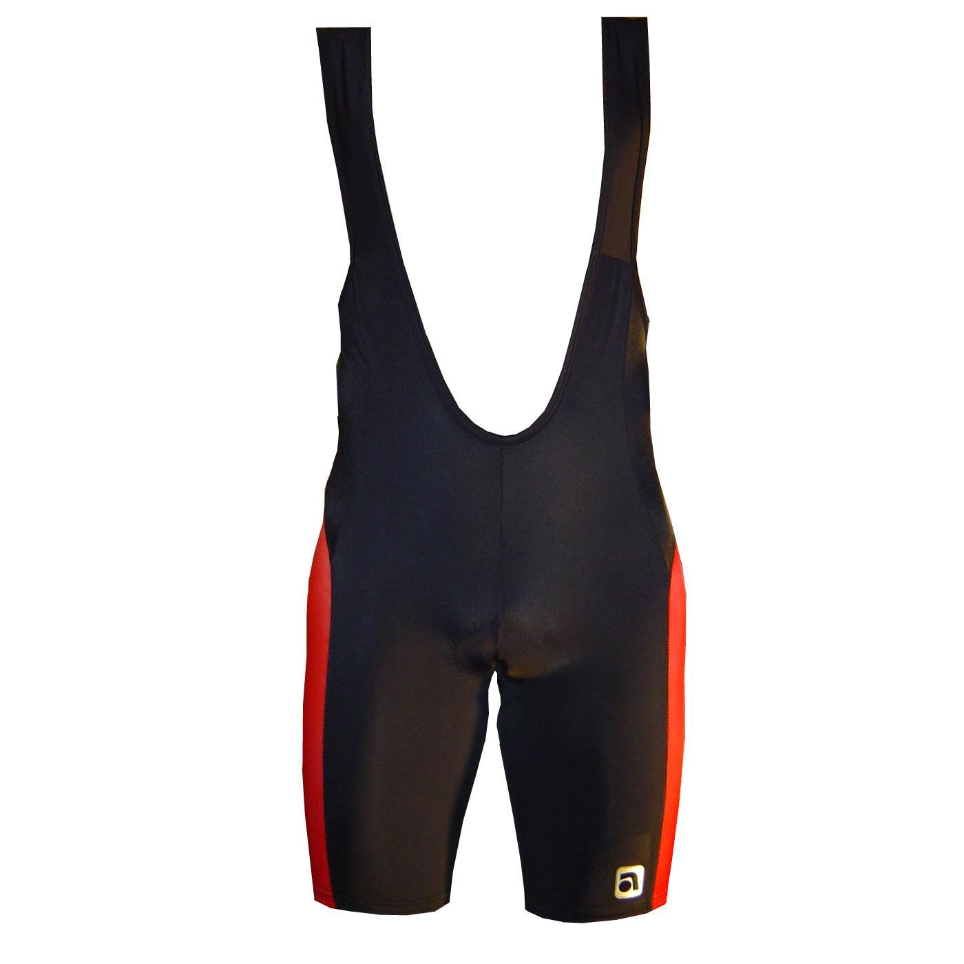 Kalhoty APACHE cyklo T-SPORT - černo-červená - velikost S