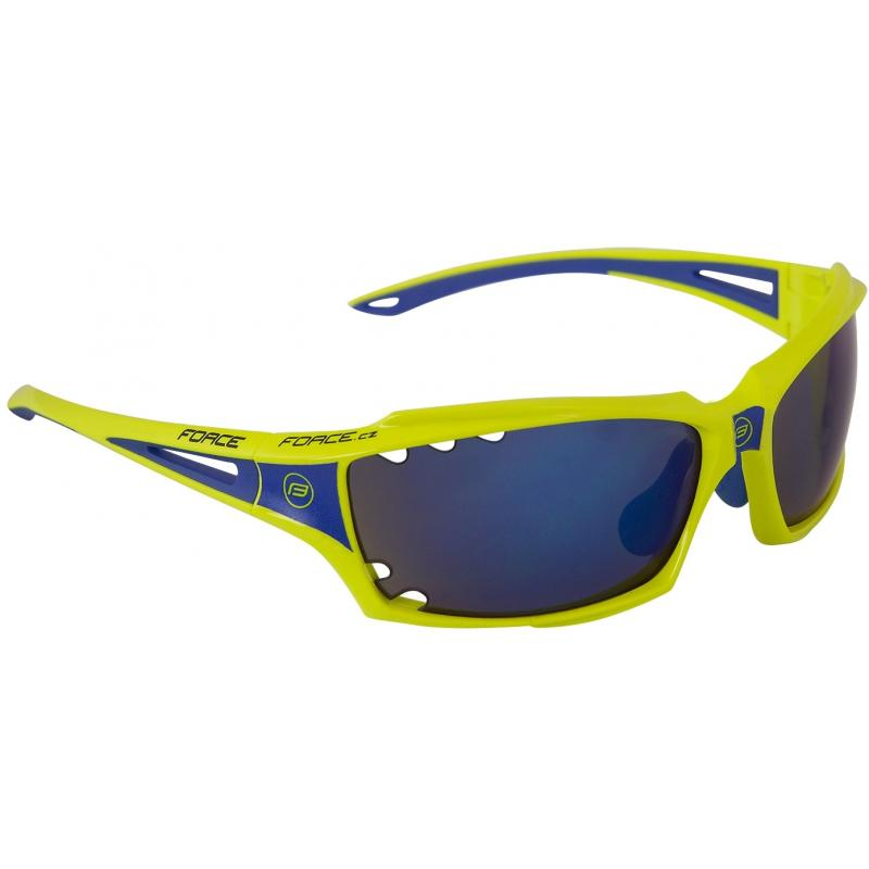 Brýle FORCE VISION - fluo, modrá laser skla 90973
