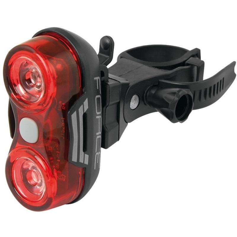Fotografie Zadní světlo FORCE OPTIC 2 diody + baterie 45384