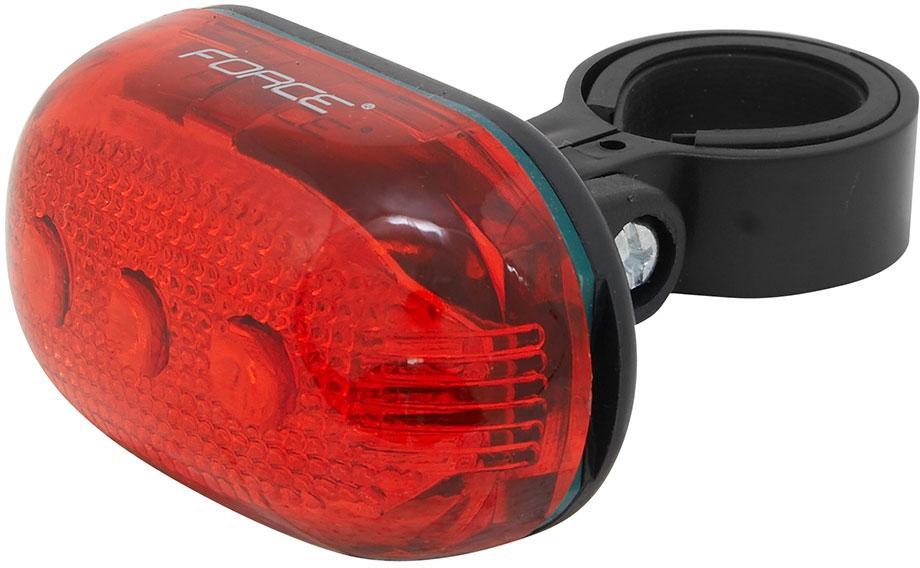 Fotografie Zadní světlo FORCE PAS 5 diod + baterie 45387