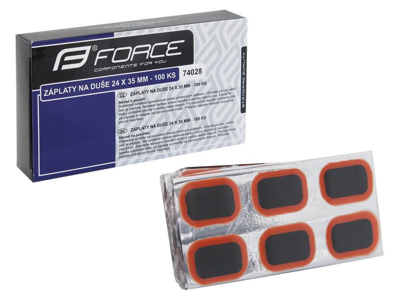 Záplaty FORCE 24 x 35 mm - box 100 ks 74028