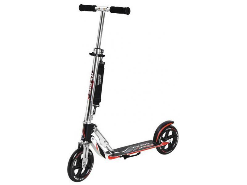 Koloběžka Hudora Big Wheel RX 205 - černo-stříbrno-červená 14724