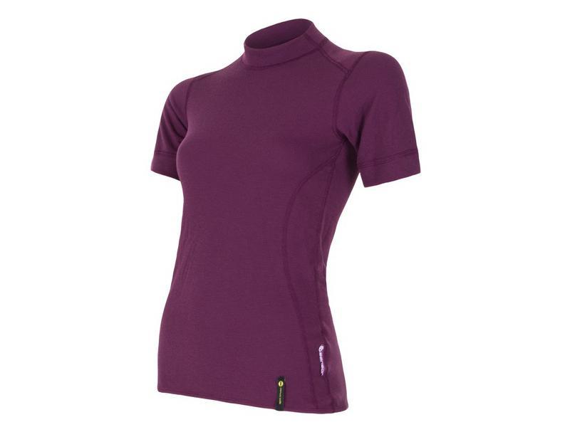 Triko Sensor Double Face - dámské, kr rukáv, fialová - velikost L