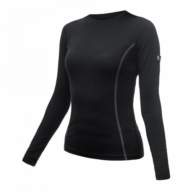 Triko Sensor Merino Wool Active - dámské, dlouhý rukáv, černá - velikost L