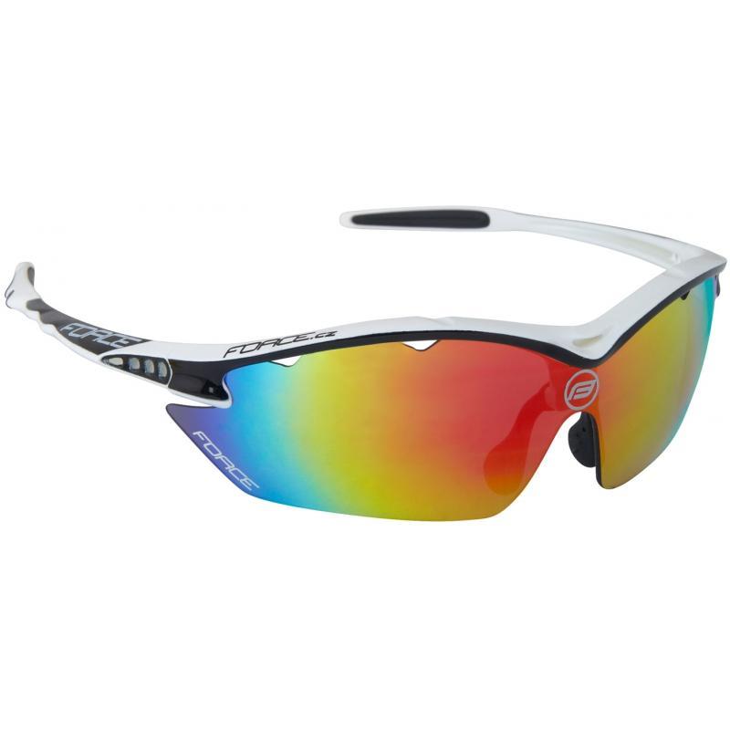 FORCE RON bílé sportovní brýle, černá laser skla 91012