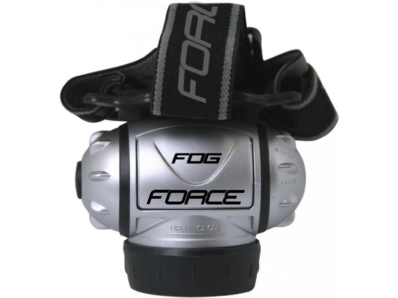 FORCE FOG 7 diod, čelovka stříbrná
