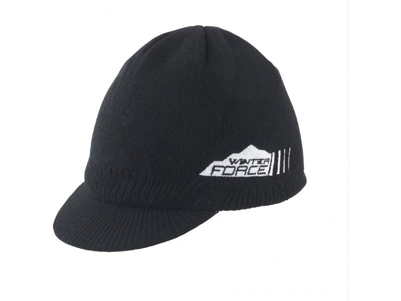 Force čepice zimní s kšiltem černá UNI