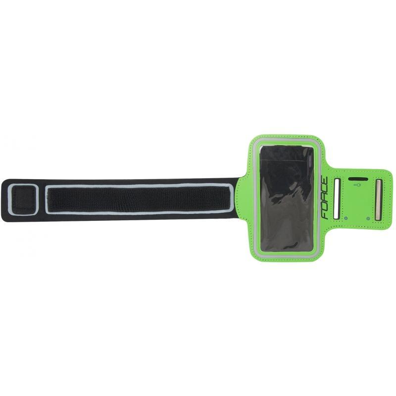 FORCE obal na mobil na ruku při sportování, zelený 896721