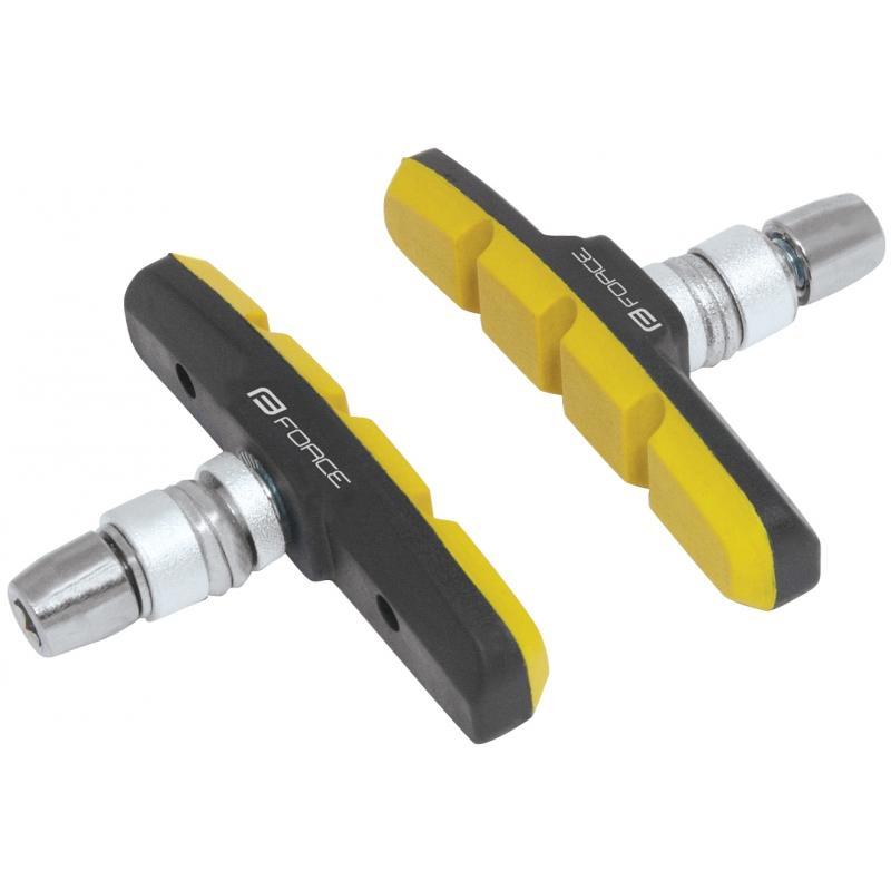 Gumičky brzd FORCE jednorázové, černo-žluté 70mm 423136