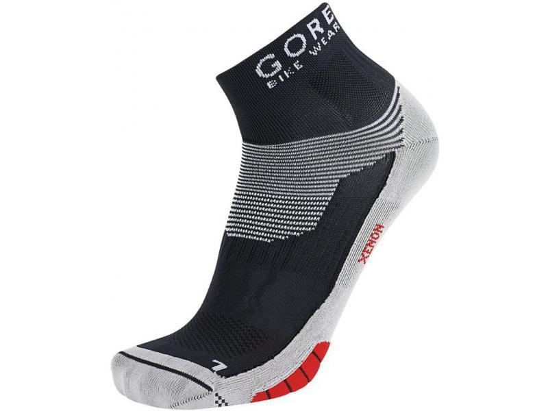 Ponožky Gore Xenon - black/ red - velikost 44/46