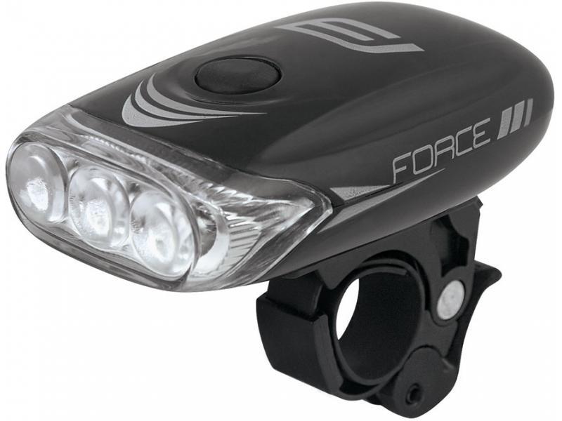 Přední světlo FORCE CLASS 3 diody + baterie 45198