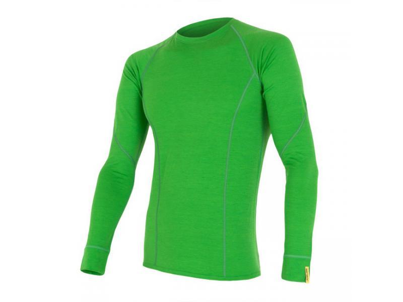 Triko Sensor Merino Wool Active - pánské, dl.ruk, zelené - velikost XL