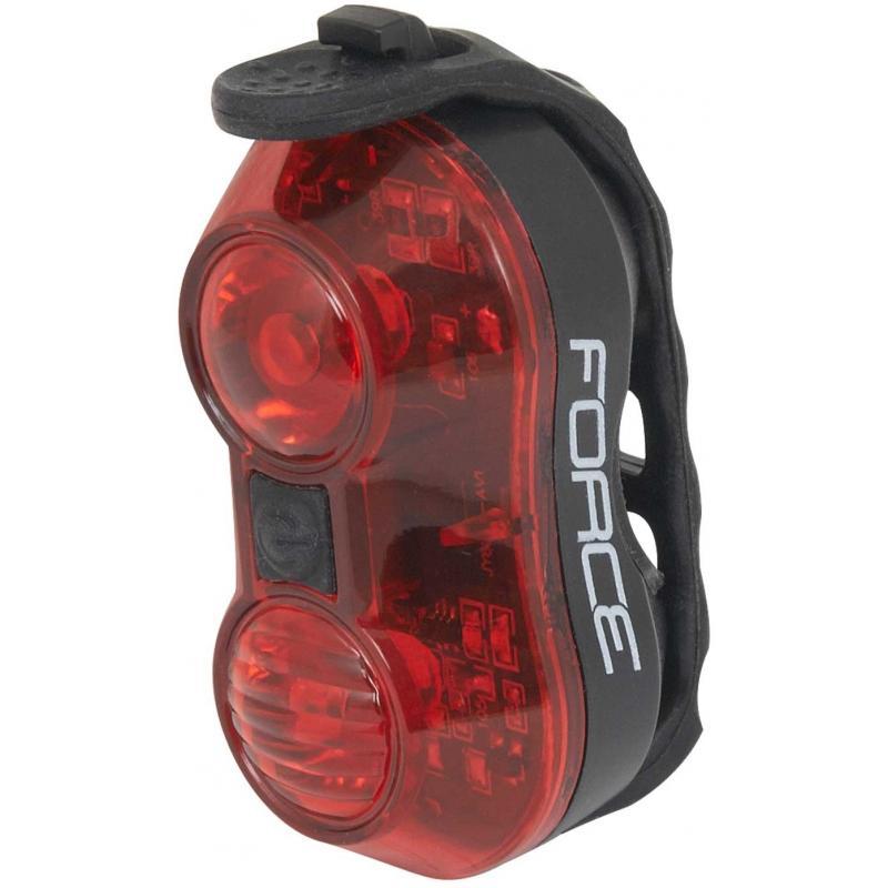 Zadní světlo FORCE BALL 1 dioda + baterie 45377