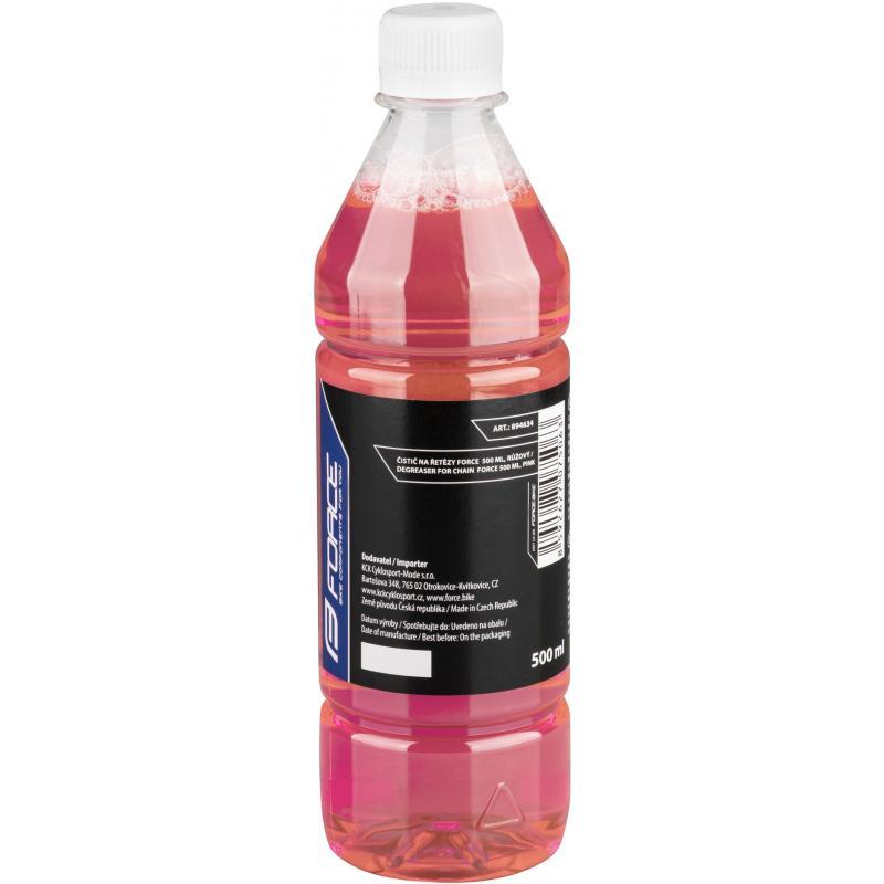 Čistič FORCE na řetězy 500 ml, láhev růžový 894634