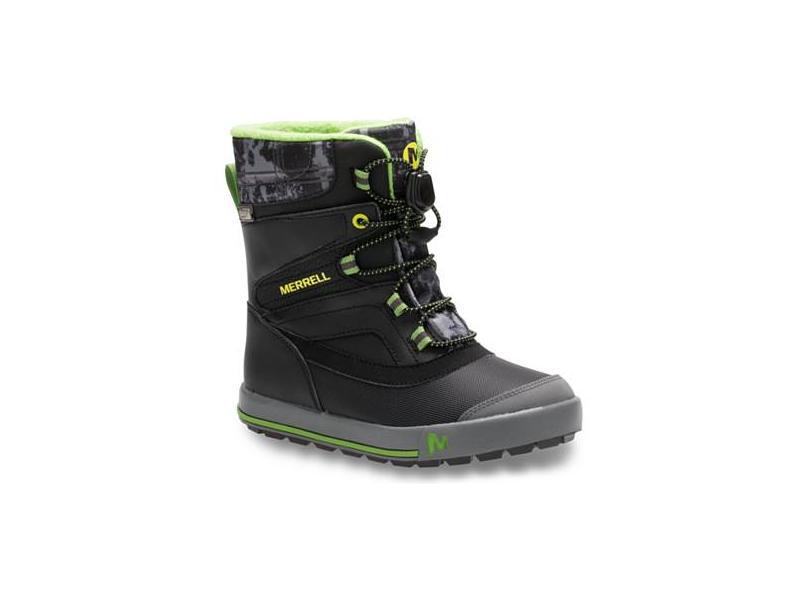 Dětská zimní obuv Merrell MC56187 SNOW BANK 2.0 WTRPF black grey green 4c0685a265b