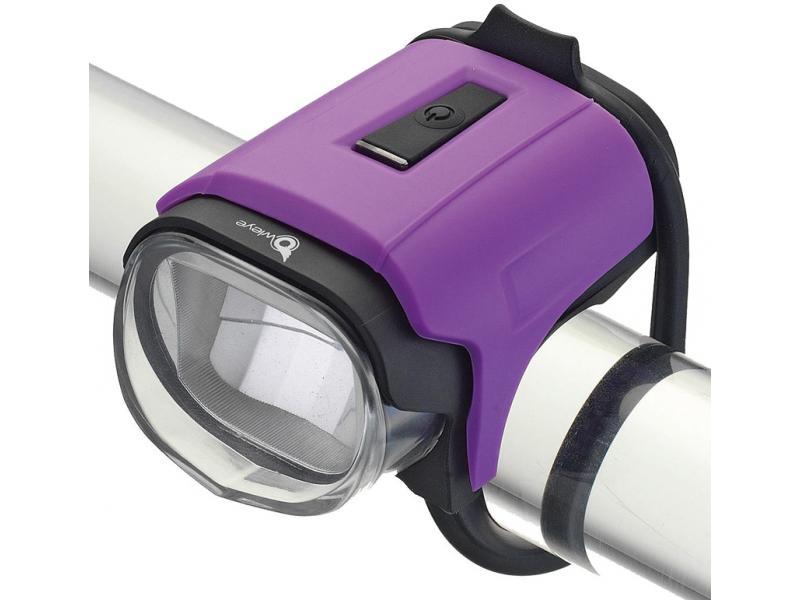 Přední světlo Owleye Highlux 18 - fialové, nabijecí