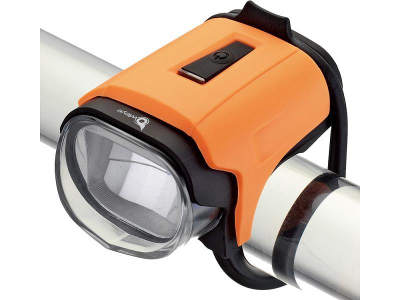 Přední světlo Owleye Highlux 18 - oranžové, nabijecí