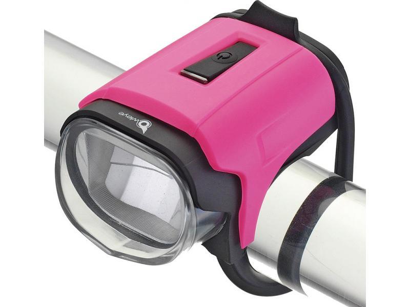 Přední světlo Owleye Highlux 18 - růžové, nabijecí
