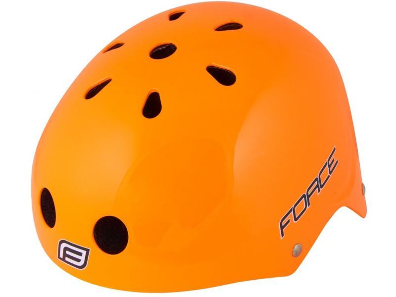 Přilba Force BMX, oranžová lesklá - velikost L-XL