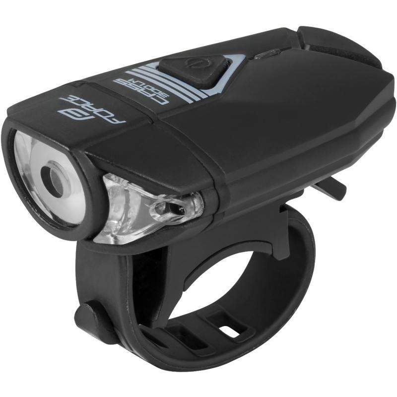 Světlo přední Force Cass 300LM, USB, černé