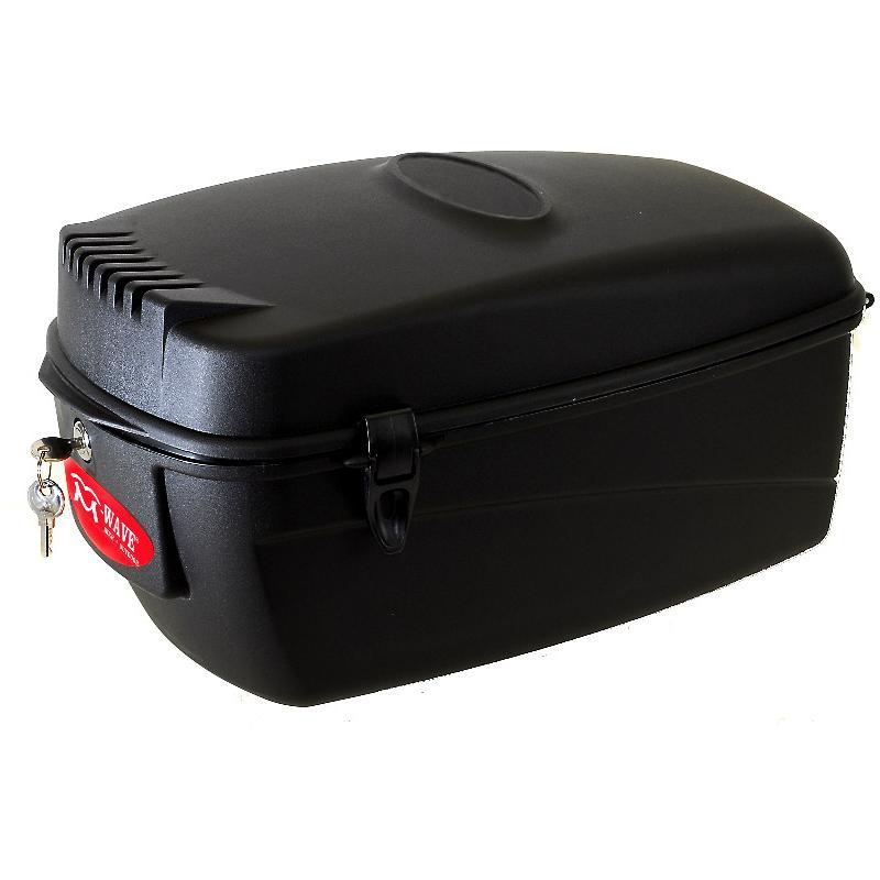 297ca43de13e0 Box na nosič M-WAVE plastový, 17l, se zámkem | Bike-Eshop.CZ