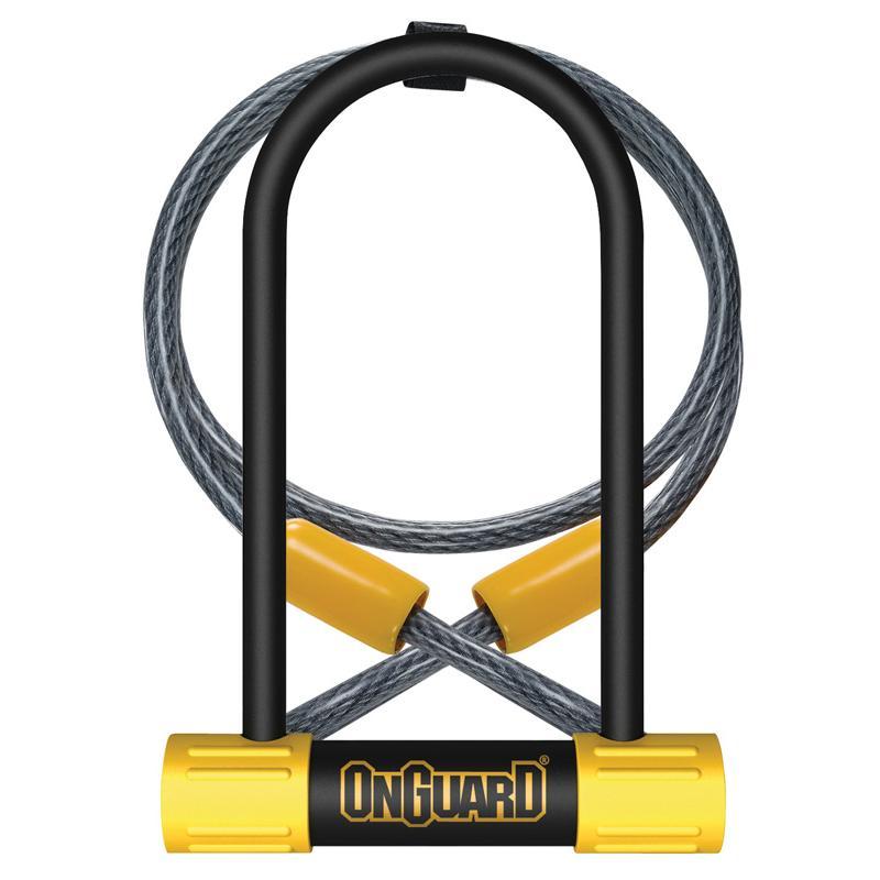 Zámek Onguard Bulldog podkova 90x175x13mm + lanko 1200x10mm, 5klíčů, držák