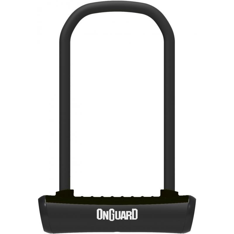 Zámek Onguard podkova 115x230x11mm, černá, 2klíče, držák