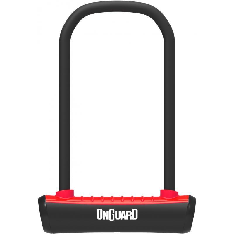 Zámek Onguard podkova 115x230x11mm, červená, 2klíče, držák