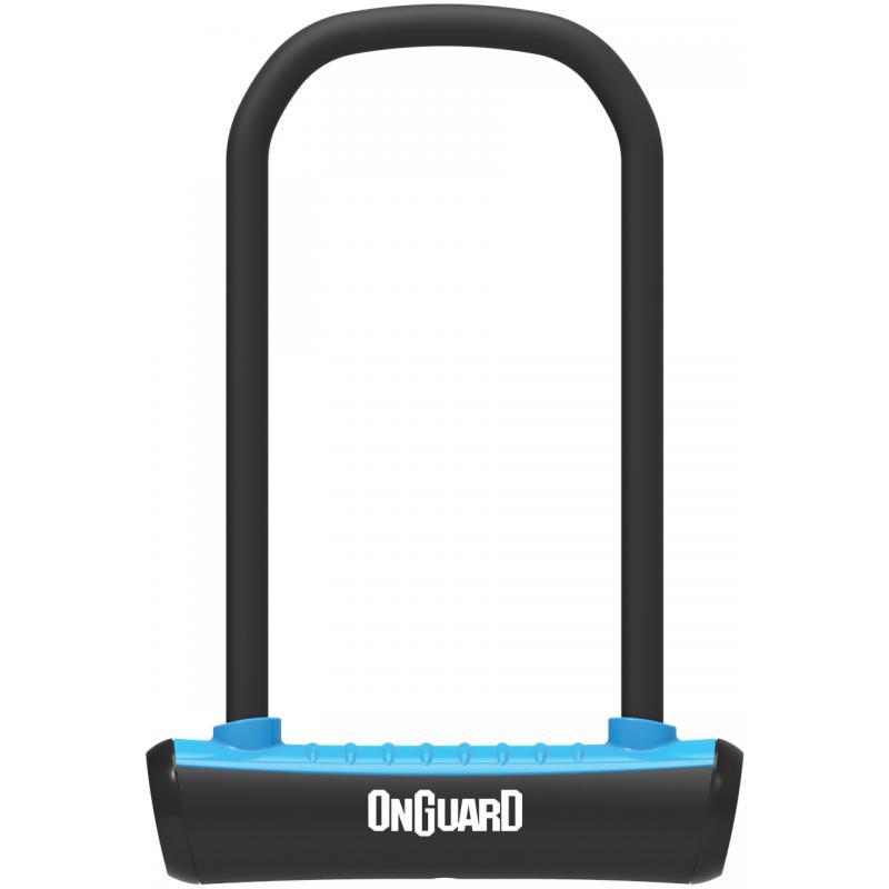 Zámek Onguard podkova 115x230x11mm, modrá, 2klíče, držák