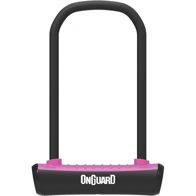 Zámek Onguard podkova 115x230x11mm, růžová, 2klíče, držák