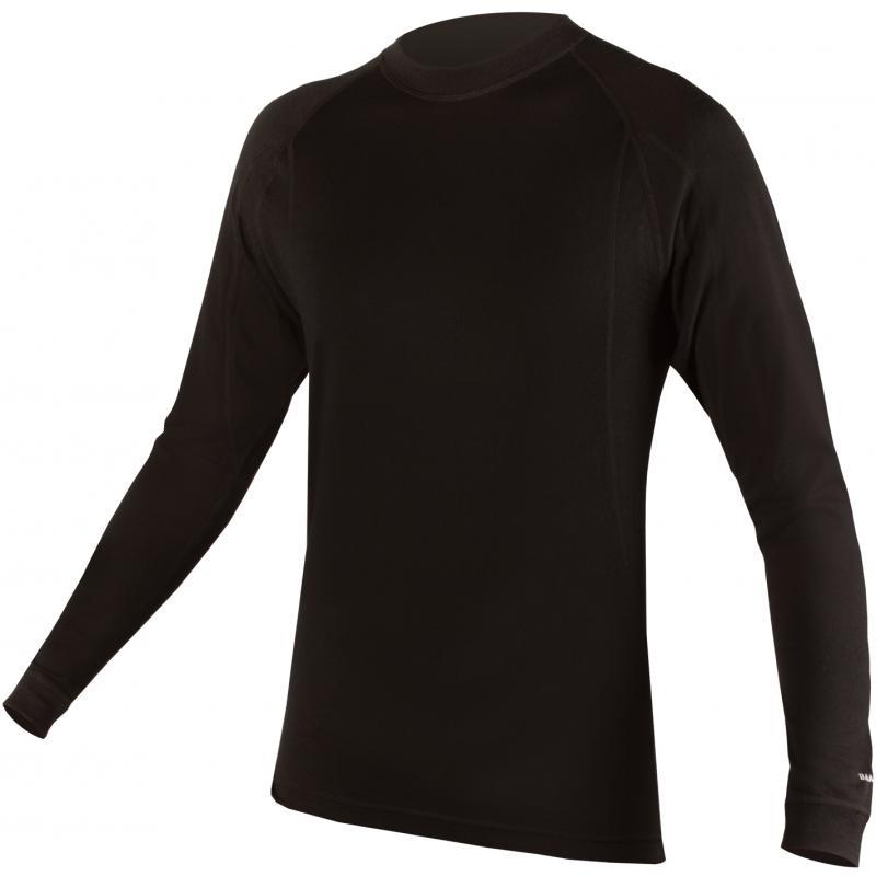 Pánské triko Endura Baa Baa Merino L/S - černé s dlouhým rukávem - E3029 - velikost L