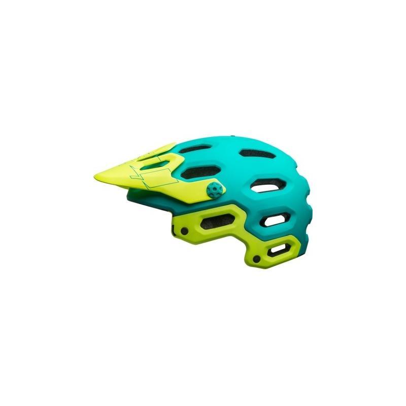 Přilba BELL Super 3 MIPS - mat emerald/ retina sear (žluto- tyrkysová) - velikost L (58-62 cm)
