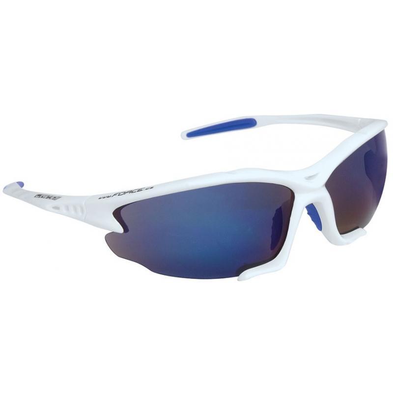 Brýle Force Light- bílé, modrá laser skla