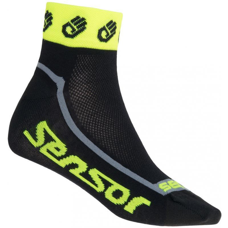 Ponožky Sensor Race Lite Ručičky - nízké, reflex žlutá - velikost 3/5