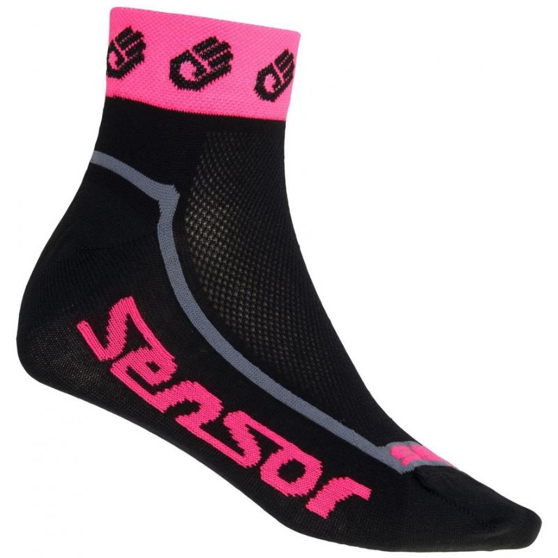 Ponožky Sensor Race Lite Ručičky - nízké, reflex růžová - velikost 3/5