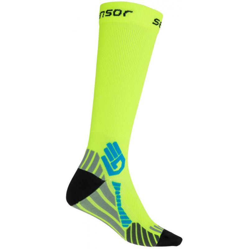 Ponožky Sensor Compress - vysoké, reflex žlutá - velikost 3/5