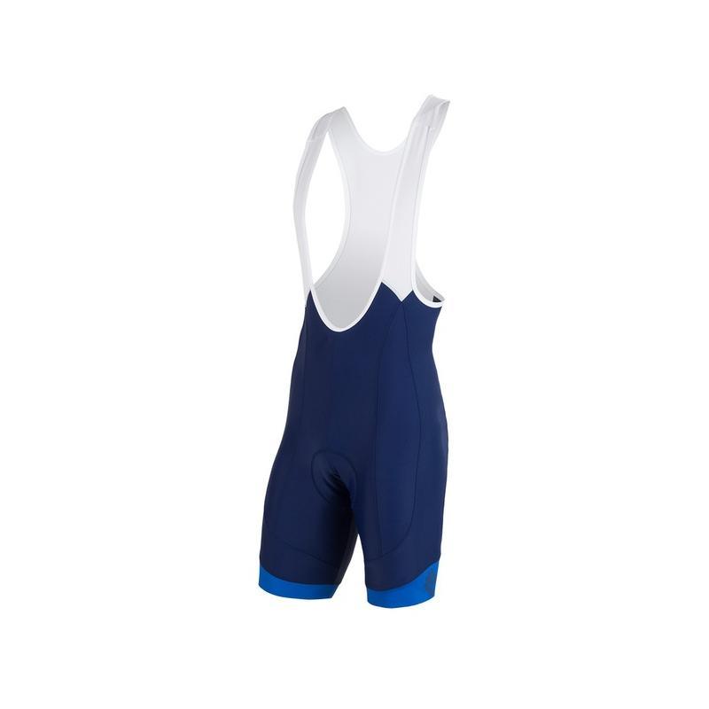 Kalhoty Sensor Cyklo Race + - pánské, s laclem, modrá/bílá - velikost L
