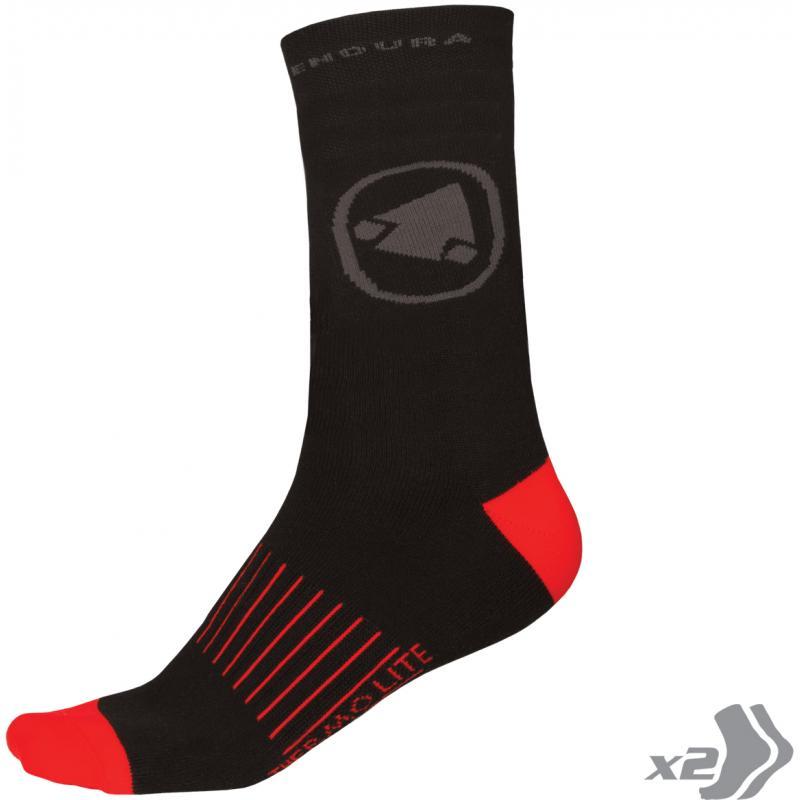 Ponožky Endura Thermolite II - (2páry v balení), černé E1038BK - Velikost L / 43 - 46,5(9-12)