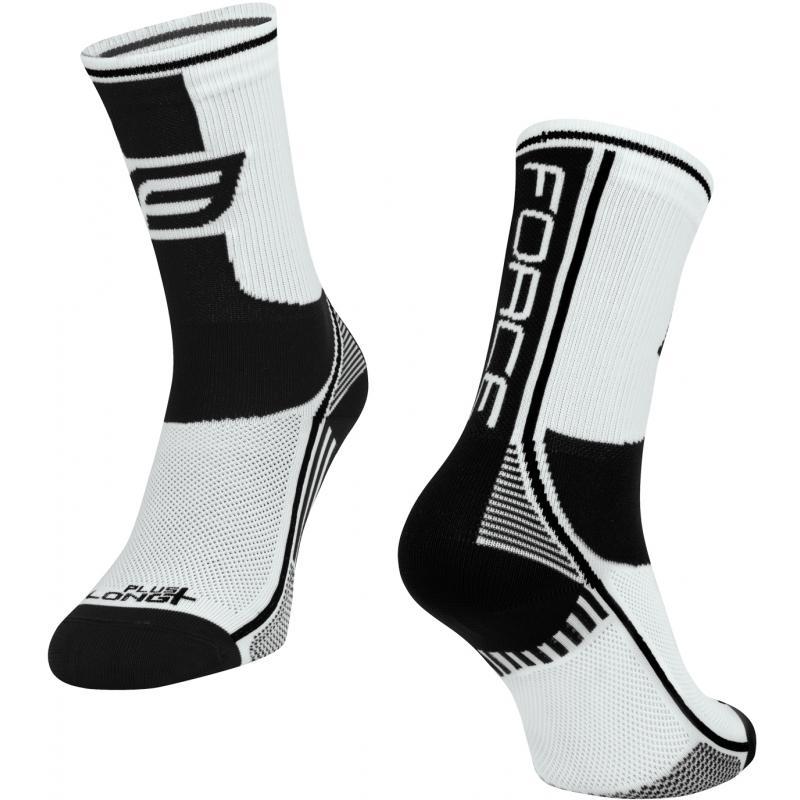 Ponožky Force Long Plus - bílo-černé - velikost L-XL / 42-47