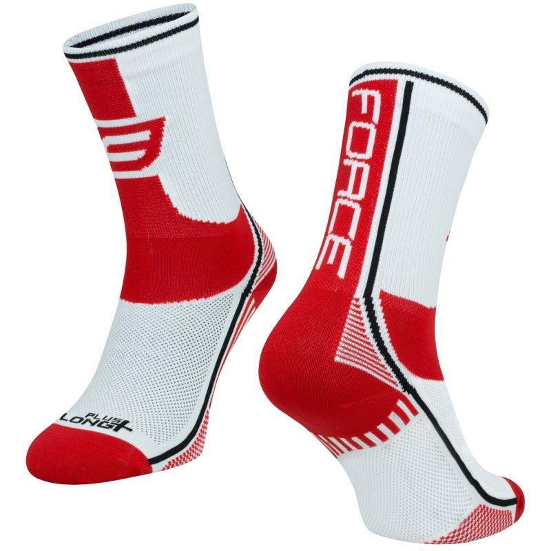 Ponožky Force Long Plus - červeno-černo-bílé - velikost L-XL / 42-47