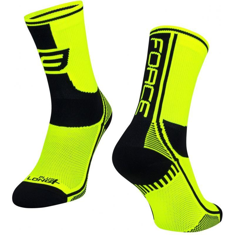 Ponožky Force Long Plus - fluo-černé - velikost L-XL / 42-47