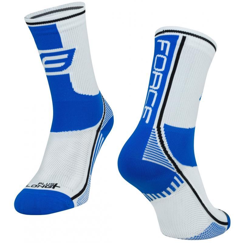 Ponožky Force Long Plus - modro-černo-bílé - velikost L-XL / 42-47