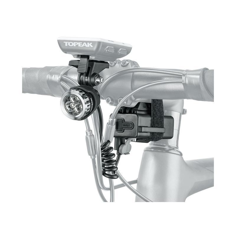 Přední světlo TOPEAK WhiteLite HP Mega 420, 420 lumens, 3000mAh power pack