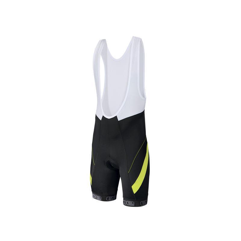 Kalhoty Etape Profi Lacl + - pánské, s laclem, černá/žlutá fluo - velikost L