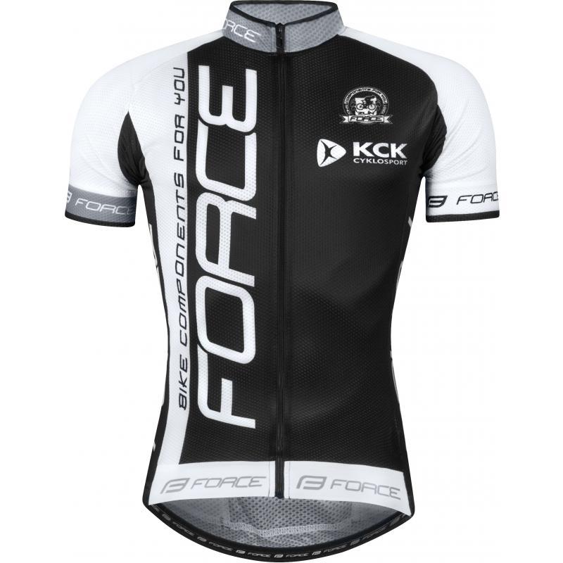 Dres Force Team 18 - krátký rukáv, černo-bílý - velikost 4XL