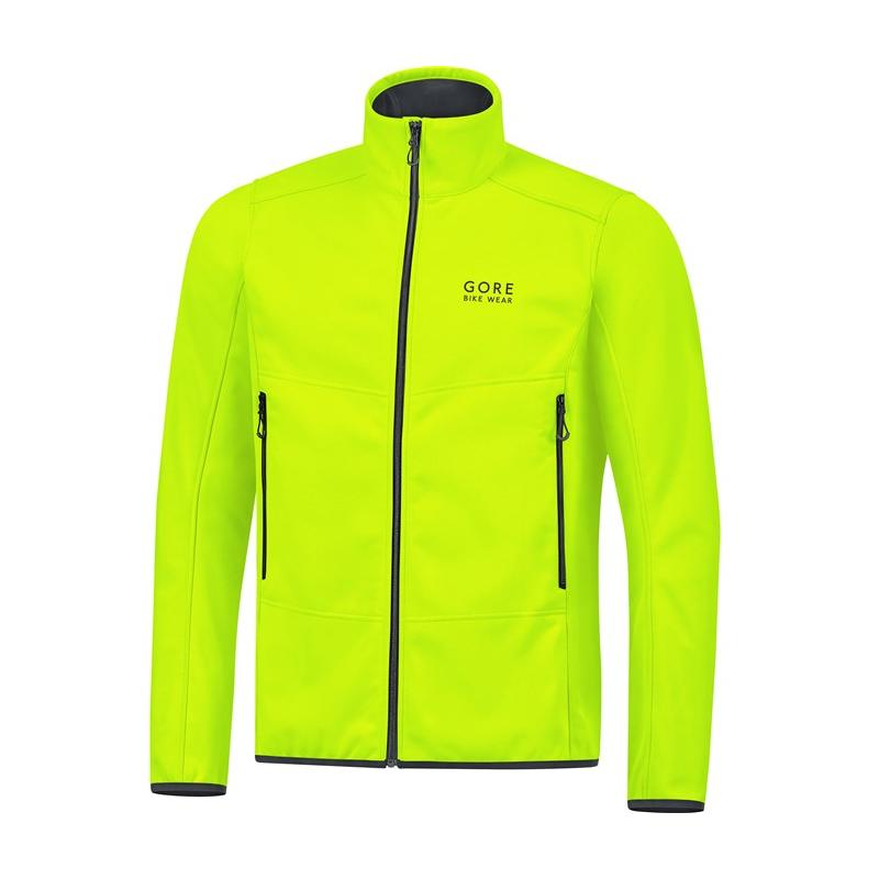 Bunda Gore Bike Wear WS Thermo Jacket - pánská, neon